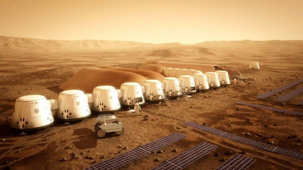 Blueprint design of the Mars human settlement created by ...